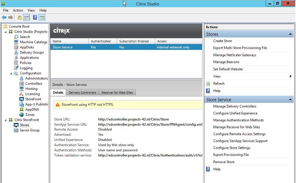 citrix storefront open application full screen